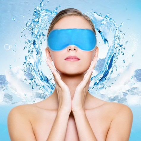 Masque de sommeil spa avec gel anti cerne refroidissant - Masque anti cerne maison ...